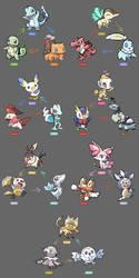 Starter Pokemon Regional Variant by Nyjee