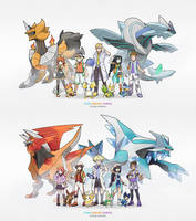 Redsigns of my original characters and starters