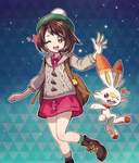 Scorbunny and new heroine by Nyjee