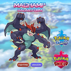 Machamp Galar Form by Nyjee