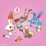 Scorbunny and other bunny pokemon