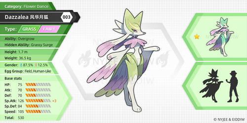 003 Dazzalea (fake pokemon)