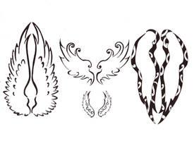 wings tattoo by Darla-Illara