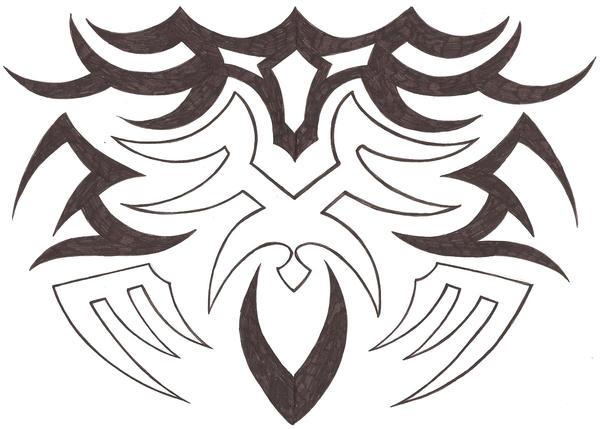shade tribal tattoo by darla illara. Black Bedroom Furniture Sets. Home Design Ideas