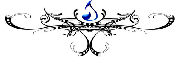 gothic water tattoo by Darla-Illara