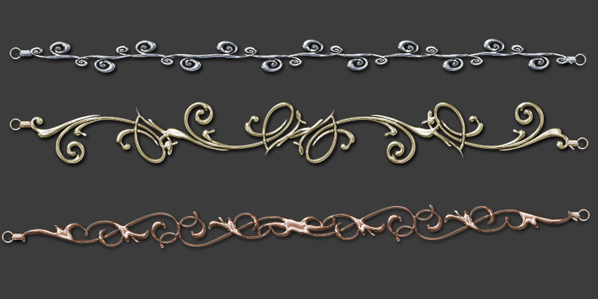 Chain bracelets by Darla-Illara