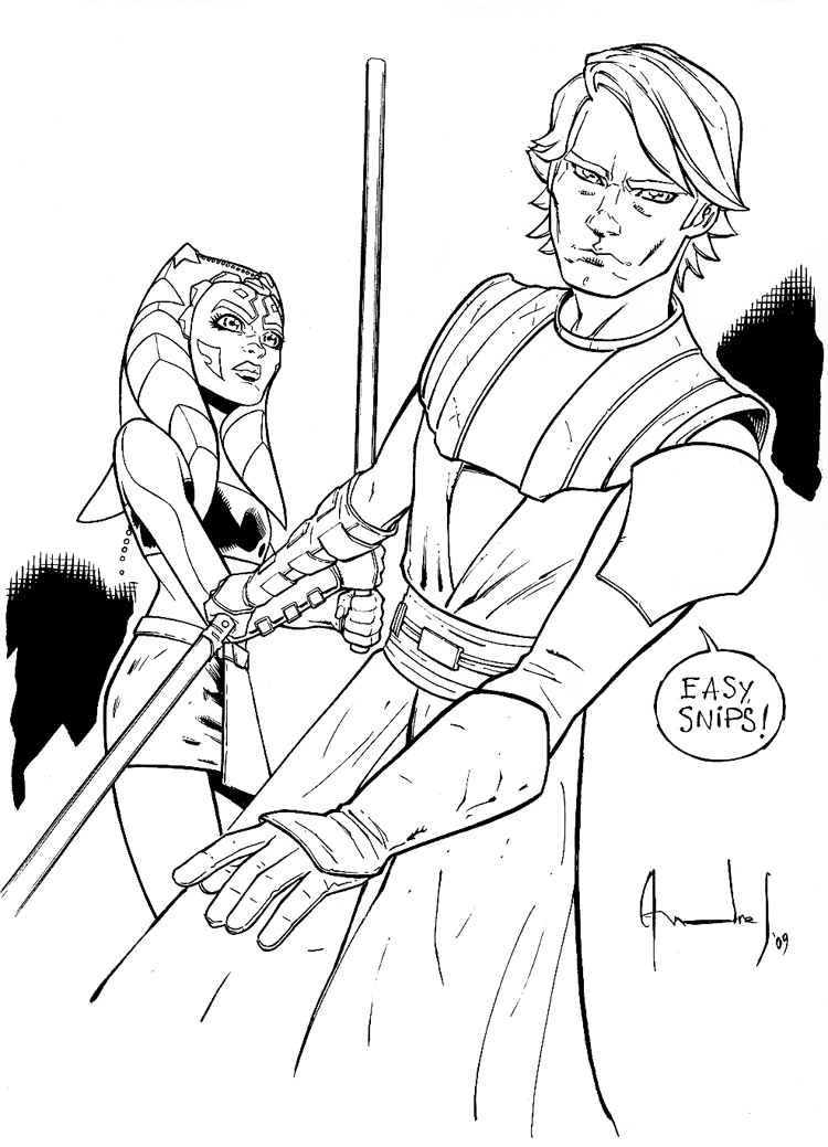 Anakin and ashoka by ultimaterubberfool on deviantart - Coloriage clone star wars ...