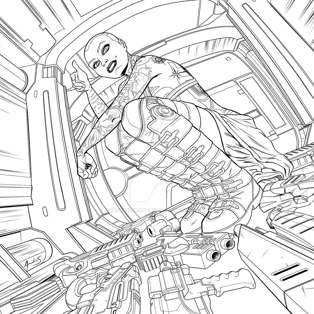 mass effect 3 coloring pages - photo#17