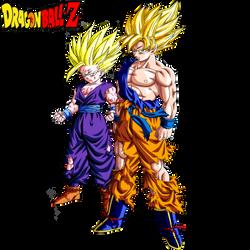 Goku SSJ And Gohan SSJ2