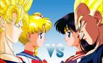 Goku and Sailor Moon vs Vegeta and Sailor Mars