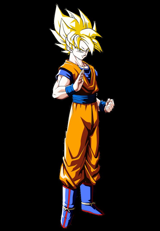 Dragon Ball Z - Goku SSJ Render by dbzandsm on DeviantArt