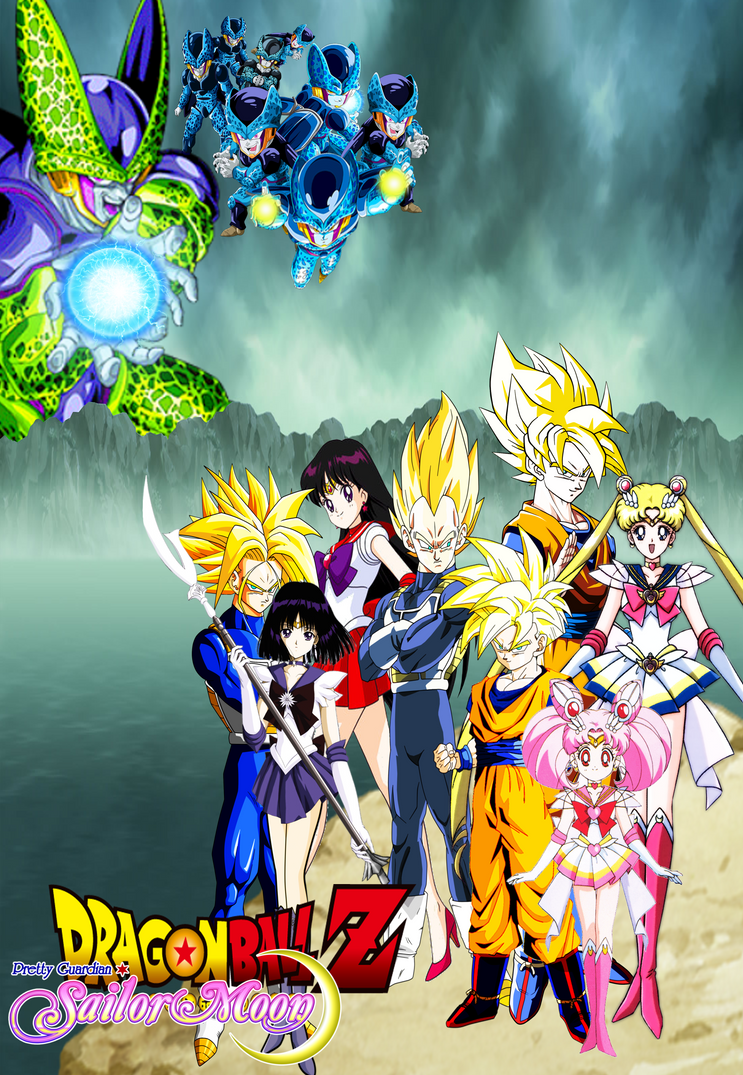 Dragon Ball Z And Sailor Moon Cell Games By Dbzandsm On