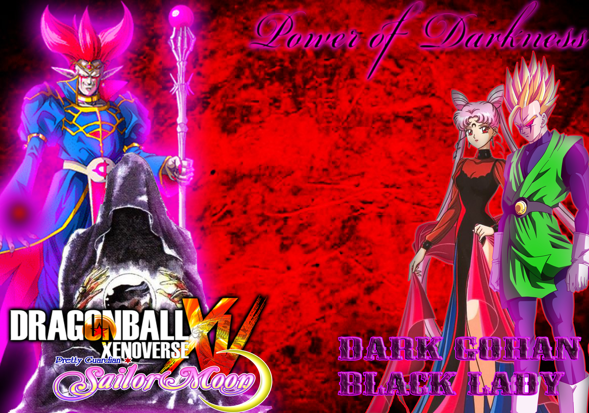 Dark Gohan and Black Lady - Power of Darkness by dbzandsm