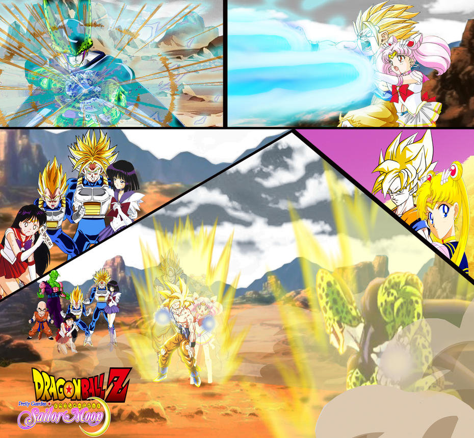 Dragon Ball Z And Sailor Moon Cell Games Final By
