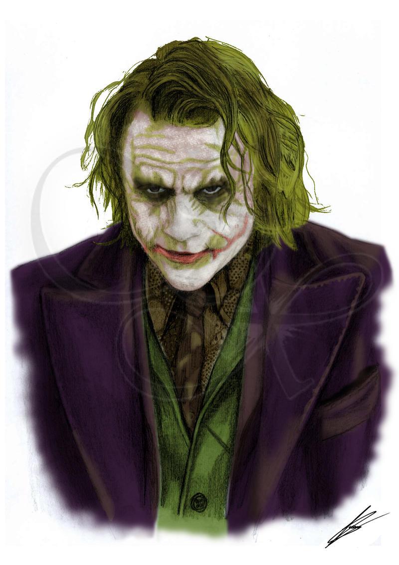 The Joker (Heath Ledger) Batman (color) by Saxa-XCII on ...