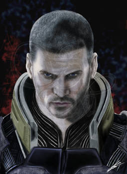 Commander Shepard Mass Effect (color)
