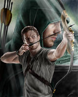 Arrow (Stephen Amell) drawing