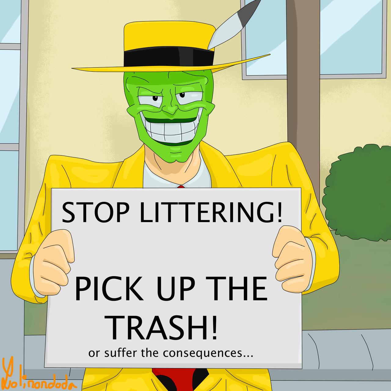 STOP LITTERING by Lolinondoda