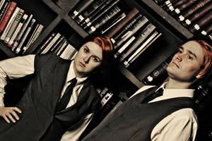 Robert and Rosalind Lutece - BioShock Infinite by zhobot
