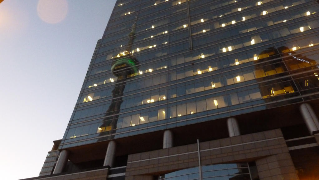 CN Tower Reflection  by Aliensoldier
