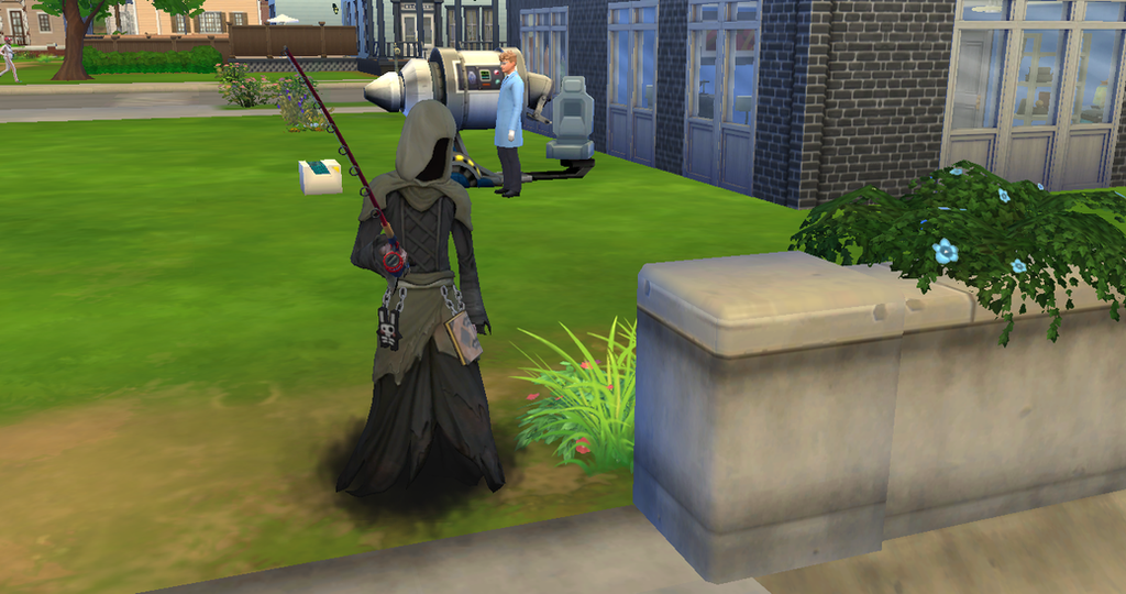 The sims 4 screenshot grimreaper fishing by for Sims 4 fishing