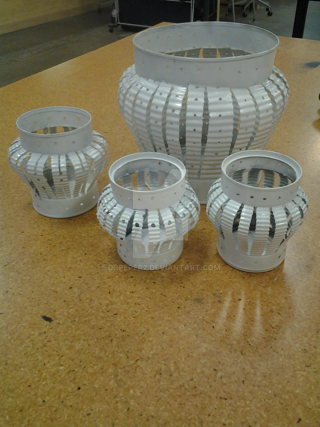 tin can luminaries / candle holders by DrPeper2