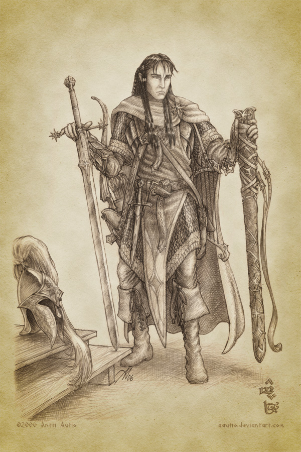 Fingon Prepares for His Quest by aautio