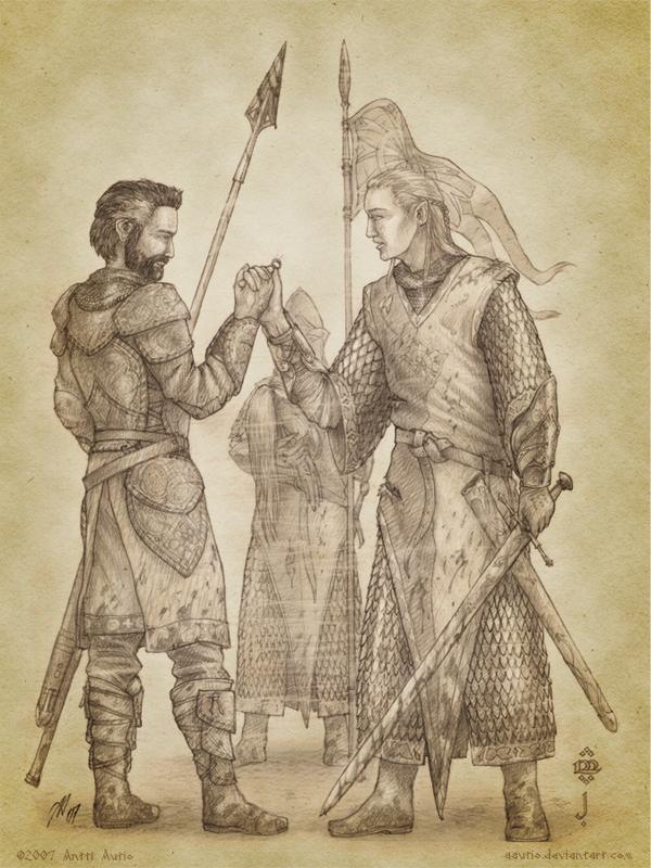 The Oath of Felagund by aautio