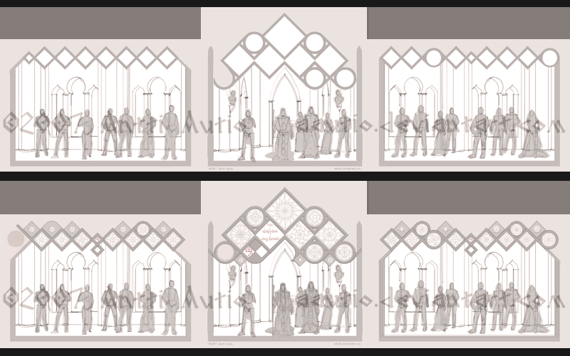 WIP: LORDS of NOLDOR triptych by aautio