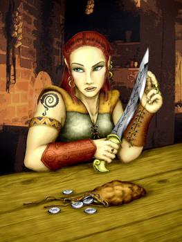 Mirabella, halfling rogue