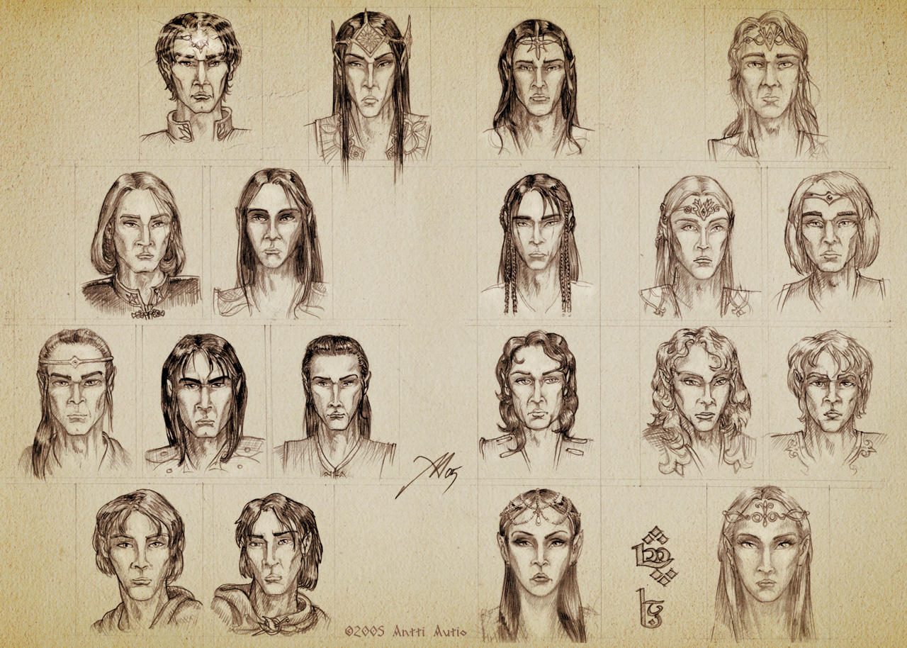 Noldorin Character Sketches by aautio
