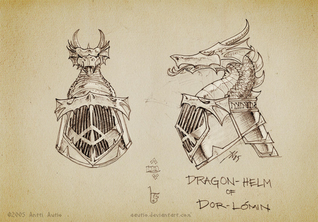 Sketch:Dragonhelm of Dor-lomin by aautio