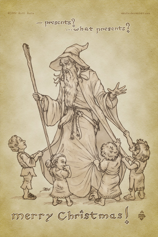 A Hobbit Christmas.. by aautio