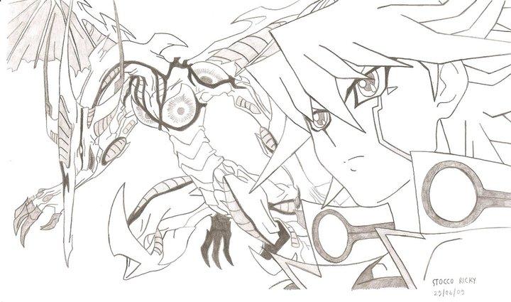 Line Art Là Gì : Yu gi oh d s yusei and stardust dragon by