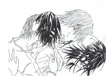 yuuki and zero: vampire knight by edge-manga