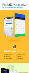 Real 3D Perspective Mock-Ups Phone 6/6+ Edition by jamiefang