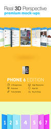 Real 3D Perspective Mock-Ups Phone 6 Edition by jamiefang