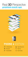 4 Real 3D Perspective Mock-Ups Phone 6 Edition
