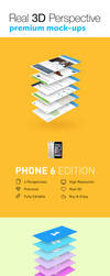4 Real 3D Perspective Mock-Ups Phone 6 Edition by jamiefang