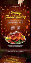 Happy Thanksgiving Flyer Template