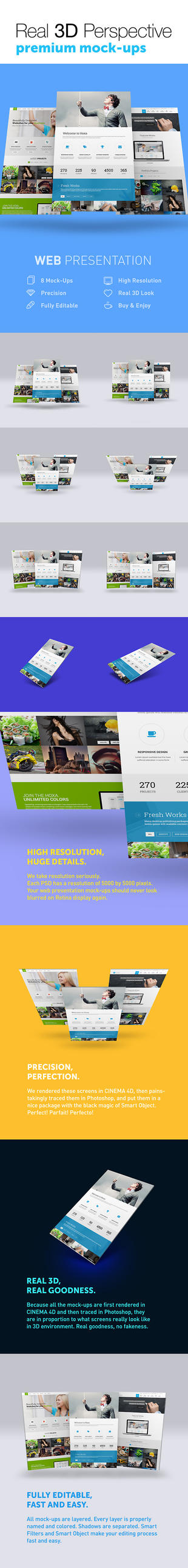 8 Real 3D Web Presentation Mock-Ups by jamiefang