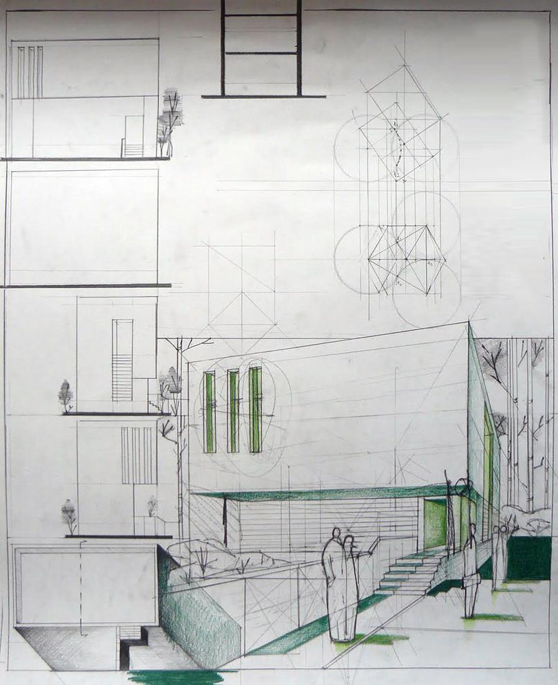 Minimalist house design by freehandarchitecture on deviantart for Minimalist house design 36 72