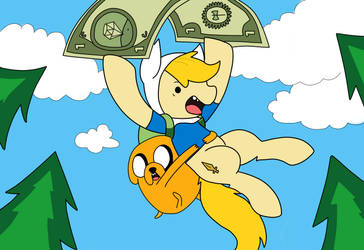 Finn and jake :D! by FriendDash