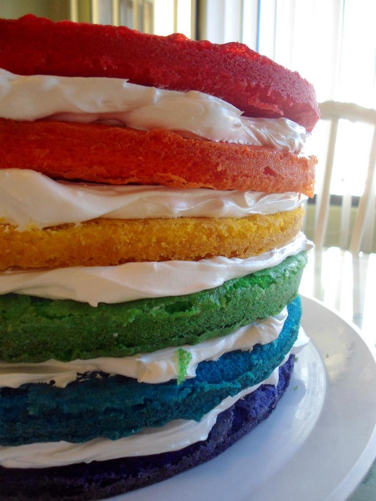 Cake Artist Nj : Rainbow Cake Layers by PnJLover on DeviantArt