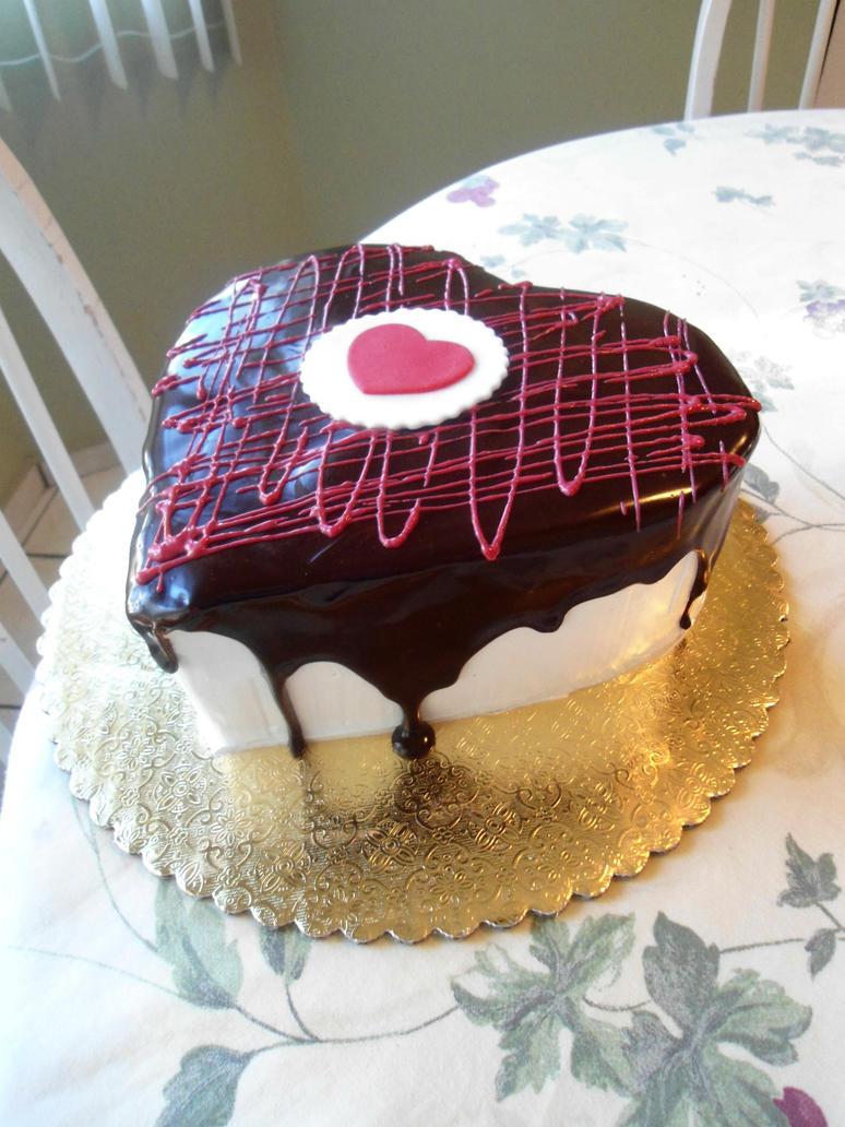 Cake Artist Nj : Chocolate Heart Cake by PnJLover on deviantART