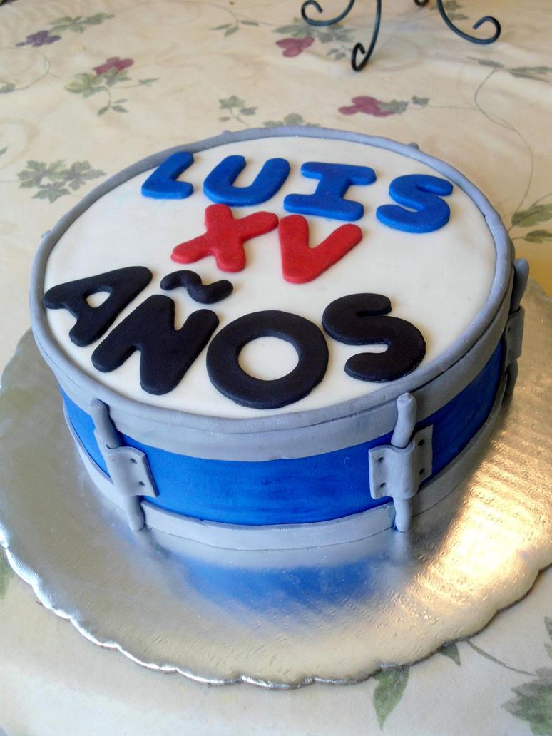 Cake Artist Nj : Fondant Drum Cake by PnJLover on deviantART