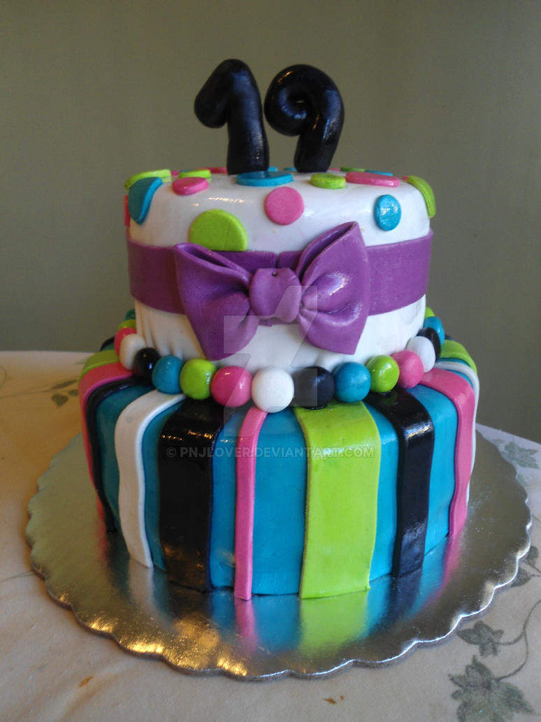 19th Birthday Cake By Pnjlover On Deviantart