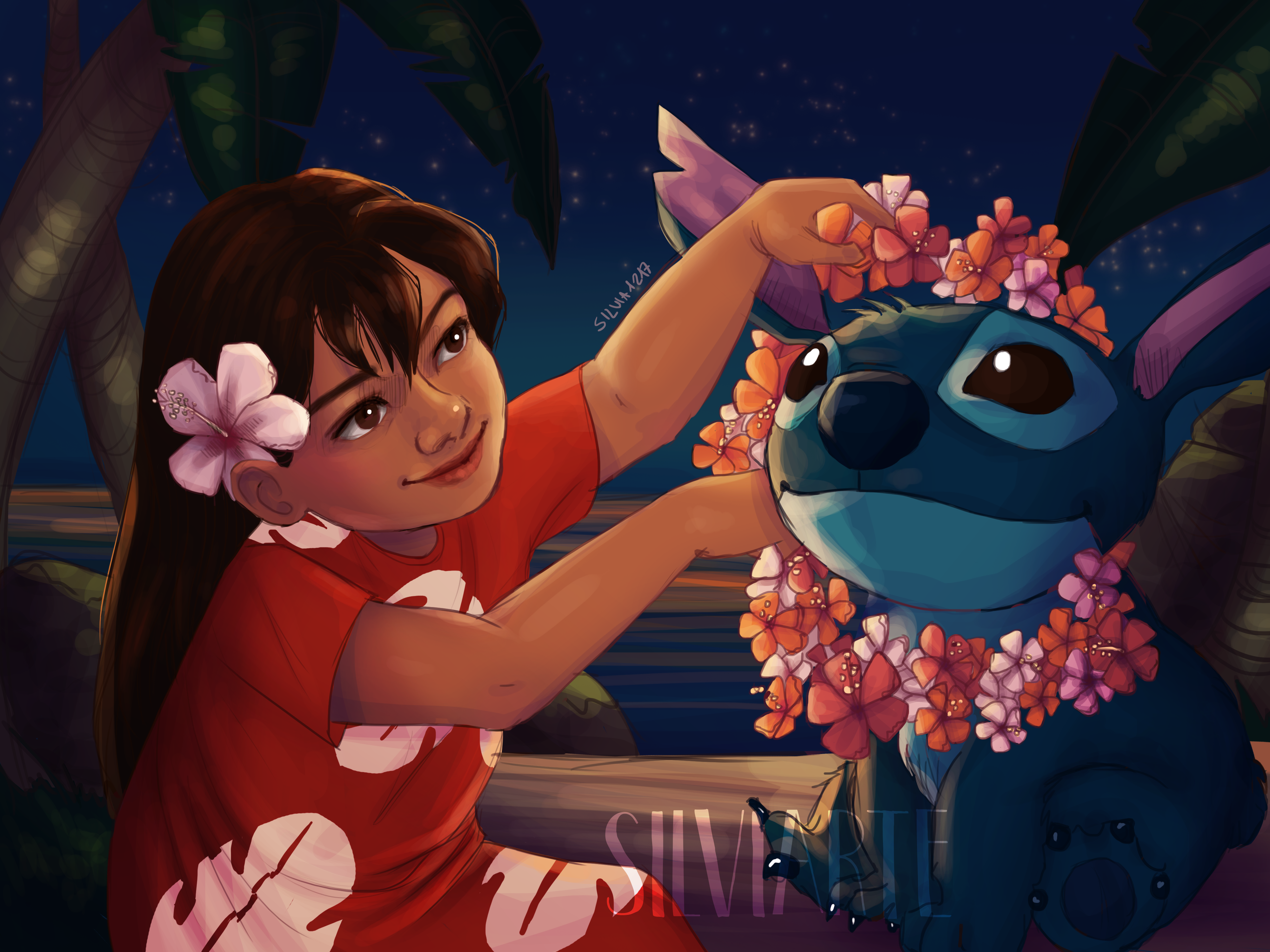 Lilo and Stitch fanart #1 by Silviarte by silviarts
