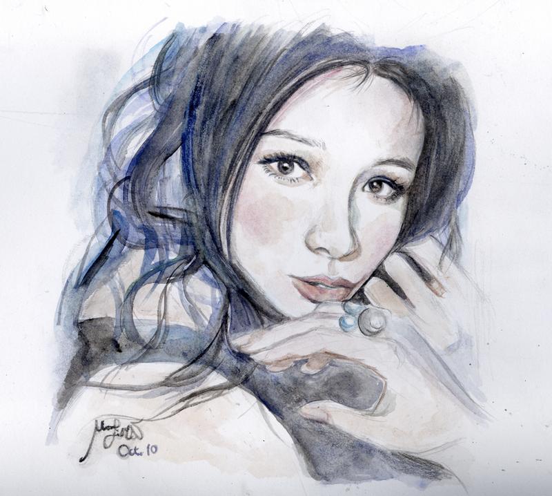 Realistic Watercolor Portraits Vivian Hsu Watercolor Portrait
