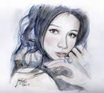 Vivian Hsu Watercolor Portrait